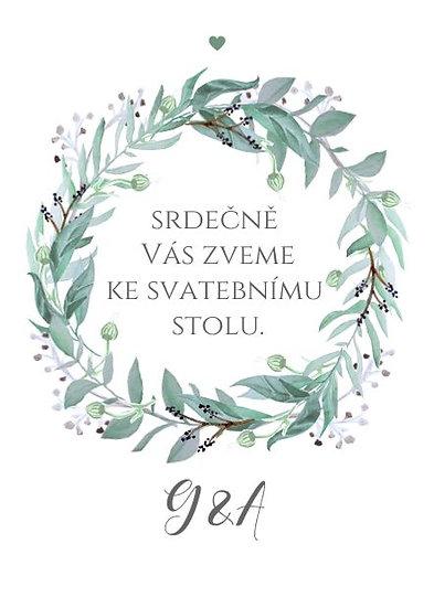Svatební pozvánky Lesněnka - bílé, 75x105 mm