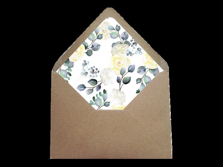 Obálka C6+ kraftová/písková- s vkladem Grace Kelly, No.1