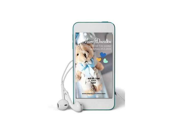 Baby Shower No.15 - animovaná pozvánka do mobilu