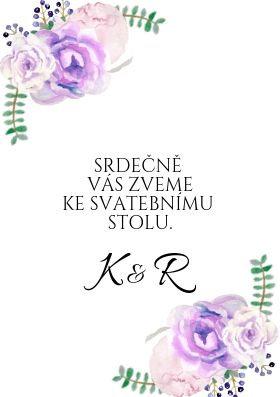 Svatební pozvánky Srdíčko No.3 - bílé, 75x105 mm