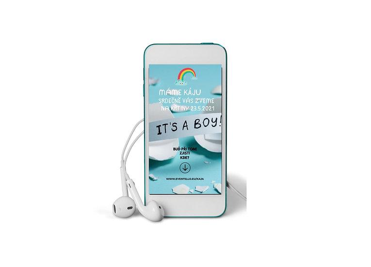 Baby Shower No.18 - animovaná pozvánka do mobilu