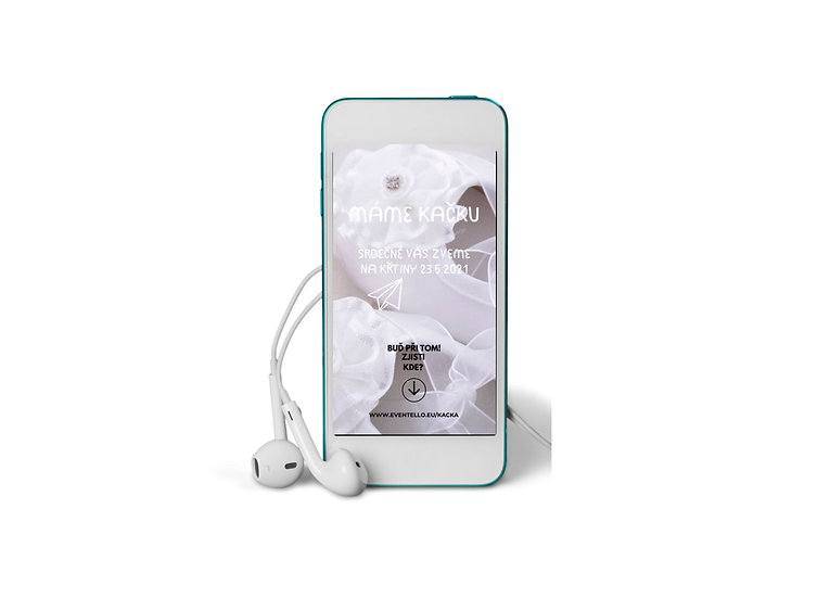 Baby Shower No.17 - animovaná pozvánka do mobilu