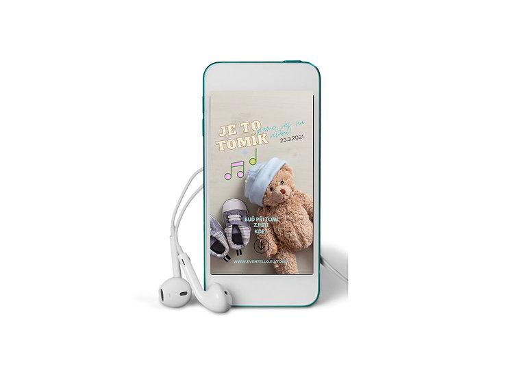 Baby Shower No.3 - animovaná pozvánka do mobilu