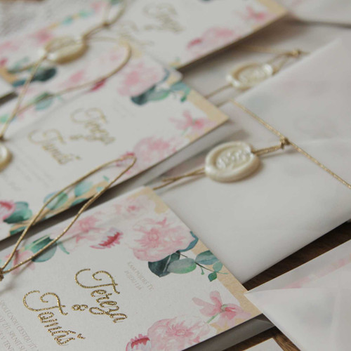 Svatební oznámení Šípkové růže, v přírodní