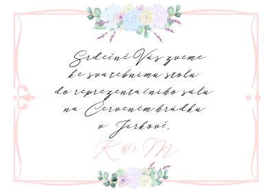 Pozvánky Boho Barocco, růžové, 75x105 mm