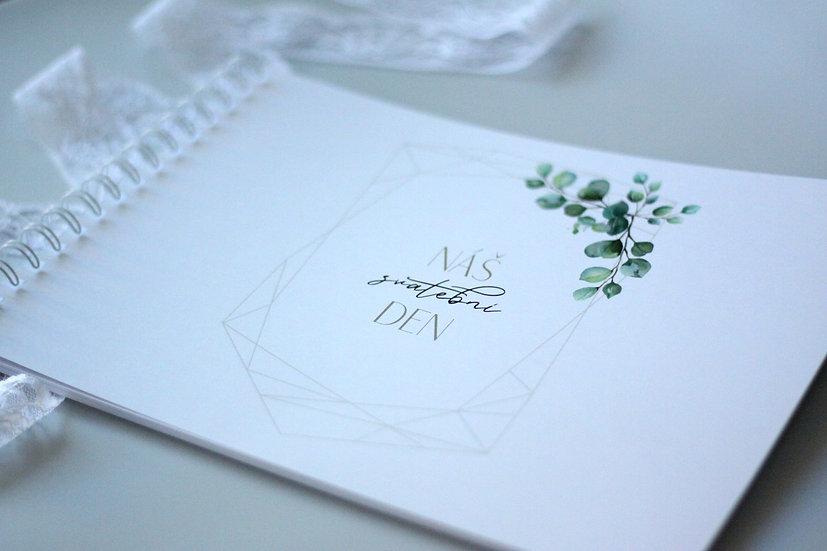 Kniha přání Eucalyptus Diamant,  bílá 297x210, tištěná