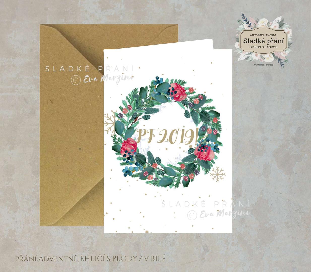 10-Vánoční přání Adventní JEHLIČÍ SPLODY