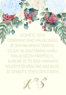 Kartičky na dary Rozkvetlá zahrada, No.2 75x105 mm