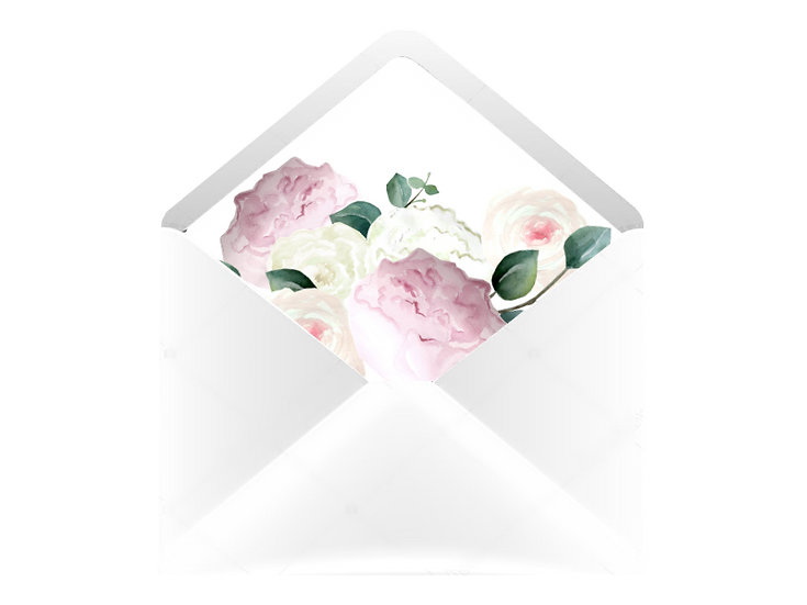 Obálka C6+ bílá - s vkladem Pivoňková zahrada, bílá