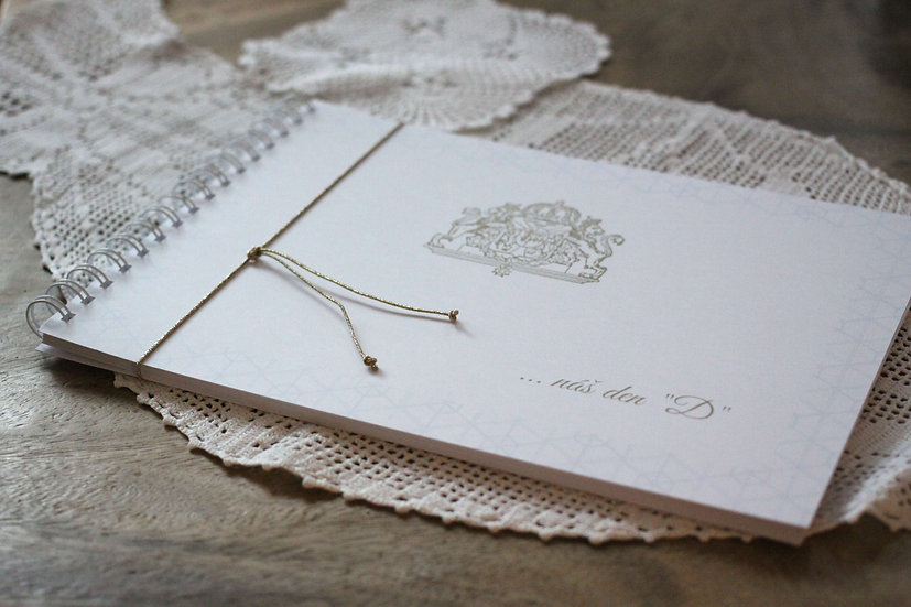 Kniha přání Svatební pas, bílá 297x210, tištěná