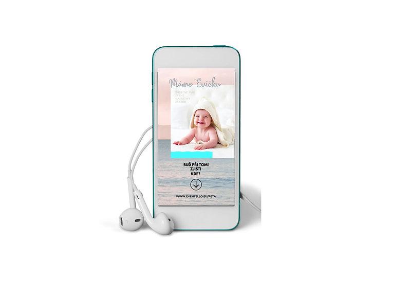 Baby Shower No.5 - animovaná pozvánka do mobilu