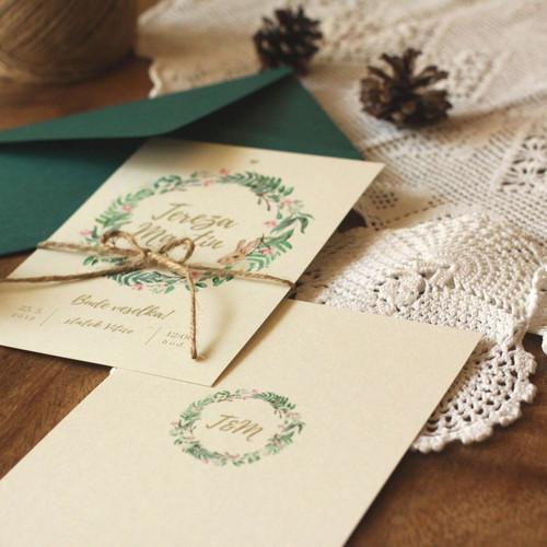 Svatební oznámení Zajíček v kapradí