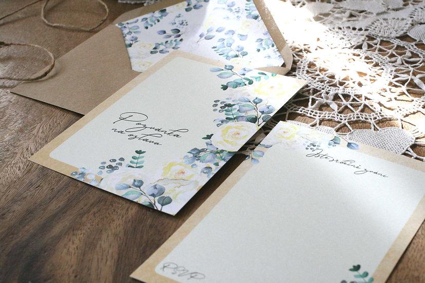 Pozvánky k narozeninám, na párty či na oslavy s béžovými květy v přírodní a boho stylu, s květinovou obálkou v designu