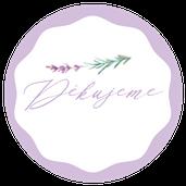 Kulaté nálepky Levandule a něha, v lila, 72 Ks/ 45 mm