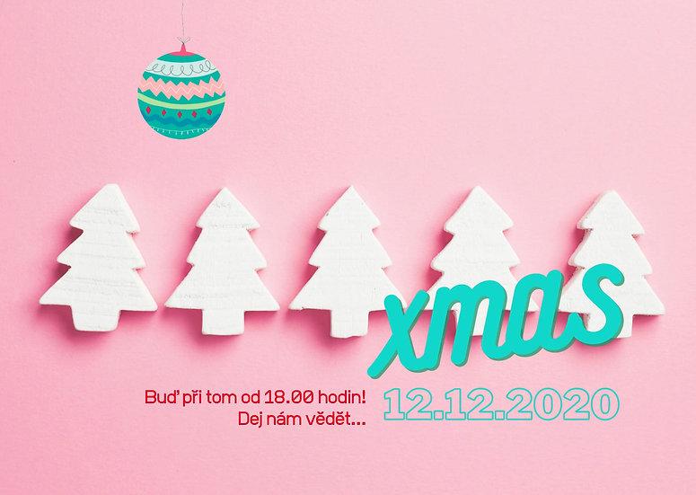animovaná web pozvánka v retro stylu na vánoční večírek