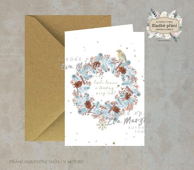 Vánoční přání Adventní skořice, v bílé - 240x170 - tištěné