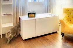 kočičí domeček a skříňka