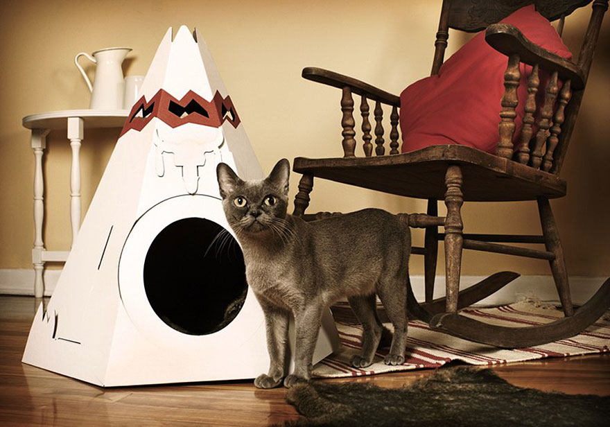 Tee Pee kočičí domeček