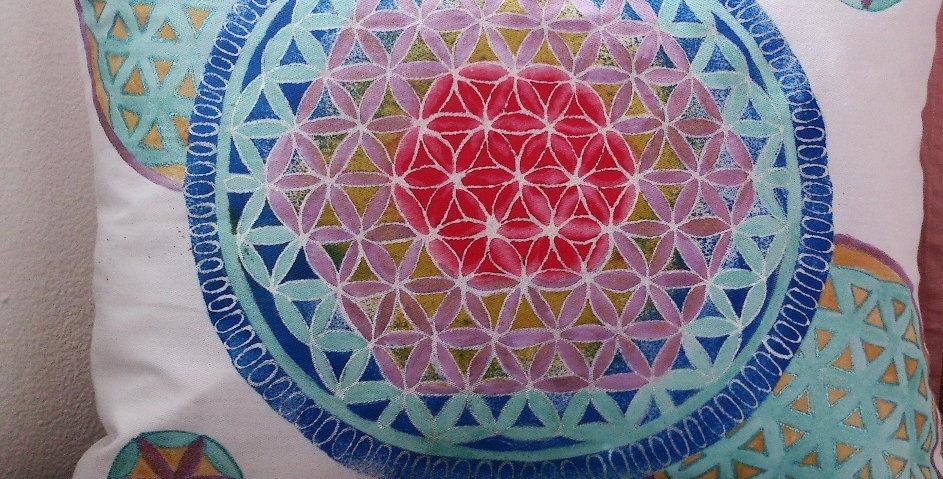 Povlak na polštář Květ života 1, 50x40