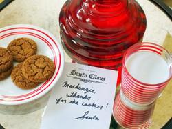 Poděkování Santy za sušenky