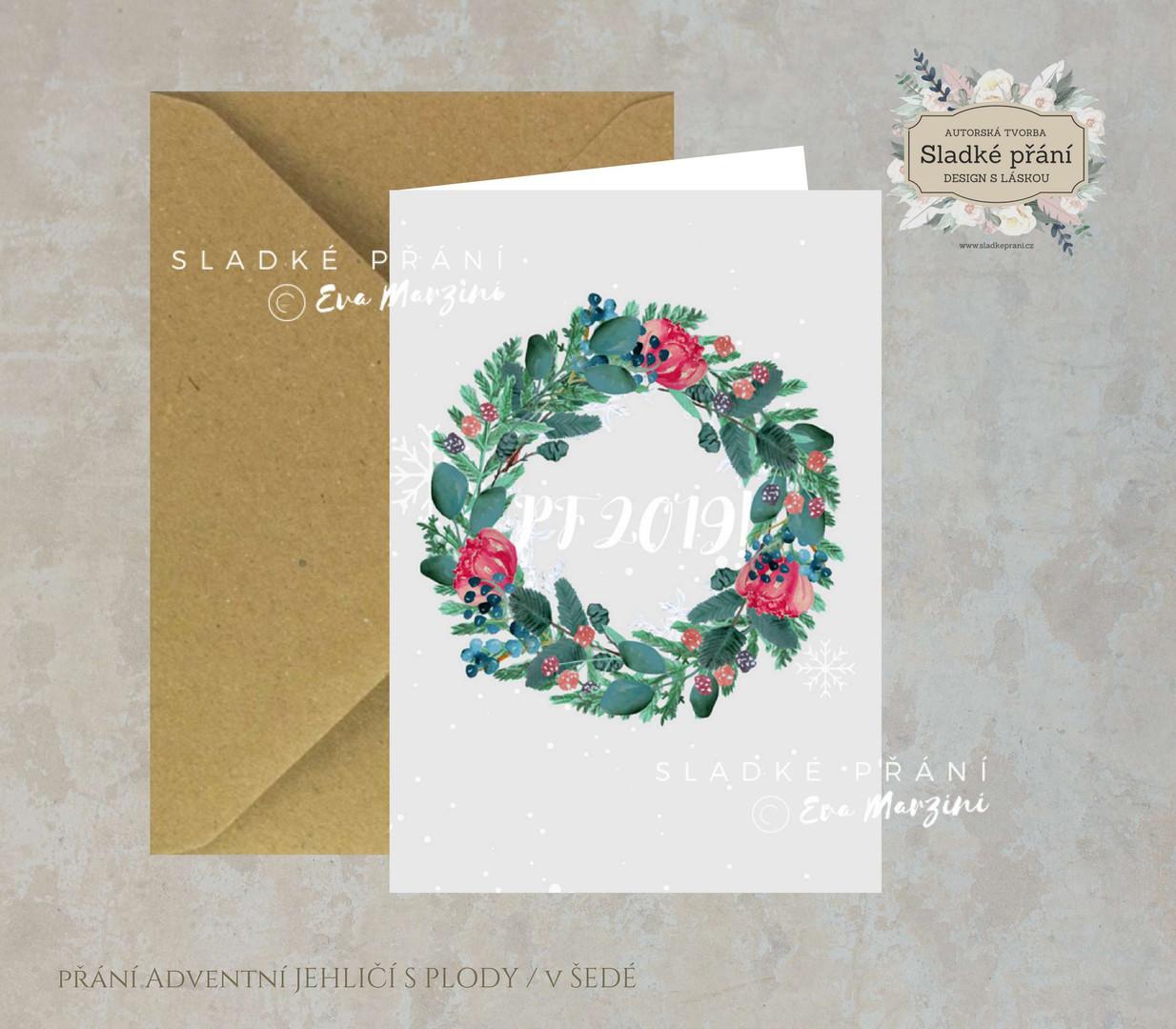 2-Vánoční přání Adventní JEHLIČÍ SPLODY