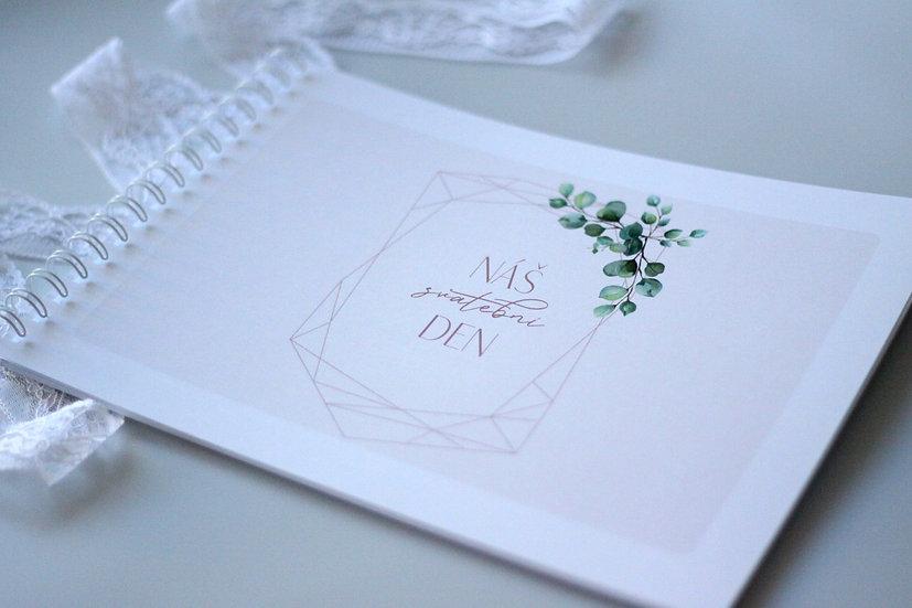 Kniha přání Eucalyptus Diamant, pudr 297x210, tištěná