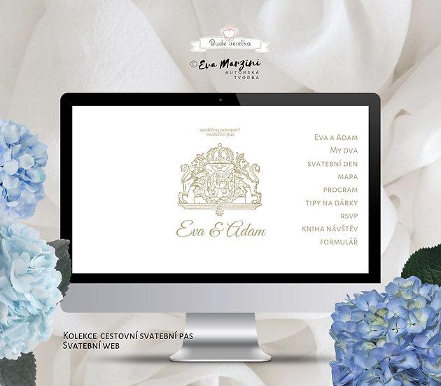 Svatební web Svatební pas, bílý
