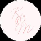 Kulaté nálepky Boho Barocco, růžové, 72 ks /45 mm