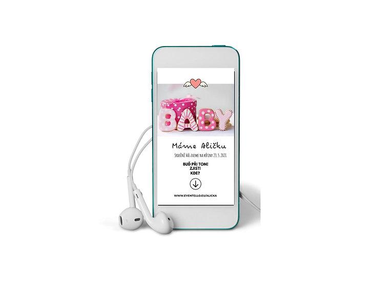 Baby Shower No.8 - animovaná pozvánka do mobilu