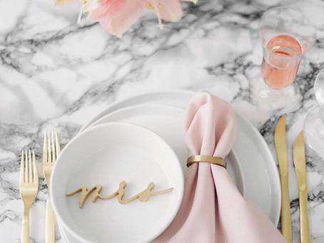 Bílý mramor: sofistikovaná svatební inspirace