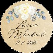 Kulaté nálepky Grace Kelly, No.2, 72 ks /45 mm