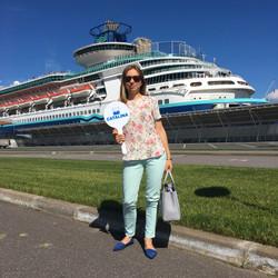 Catalina en el puerto marítimo