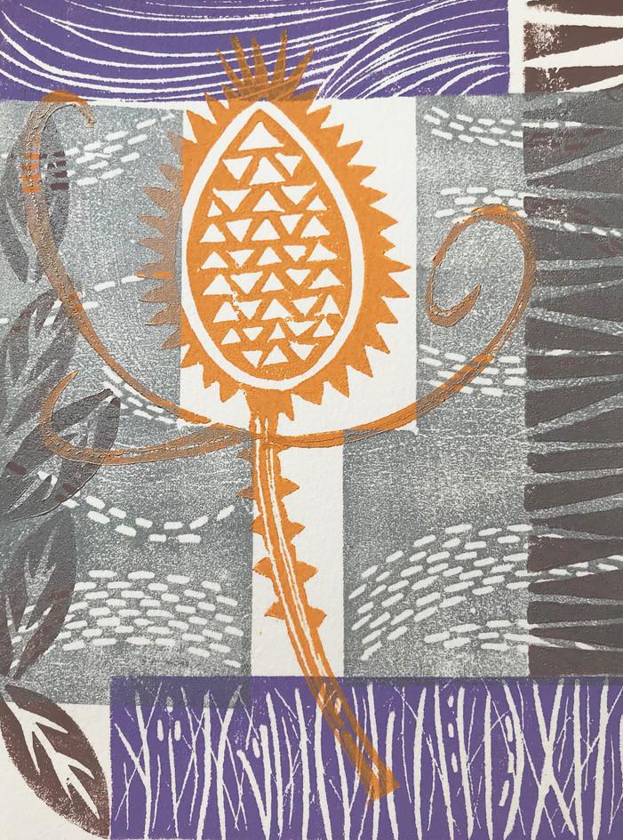 "Nancy Gurganus  ""Autumn Gold"" Printfoam block print"