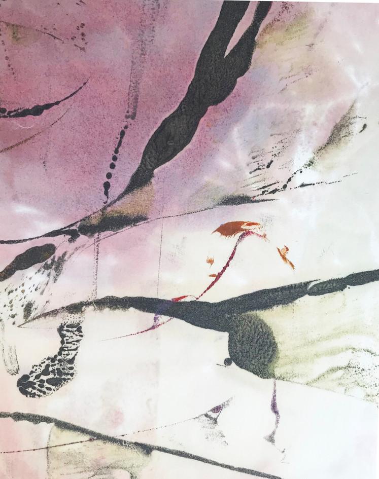 """Jennifer Dreyfus  """"Untitled"""" Encaustic on paper"""