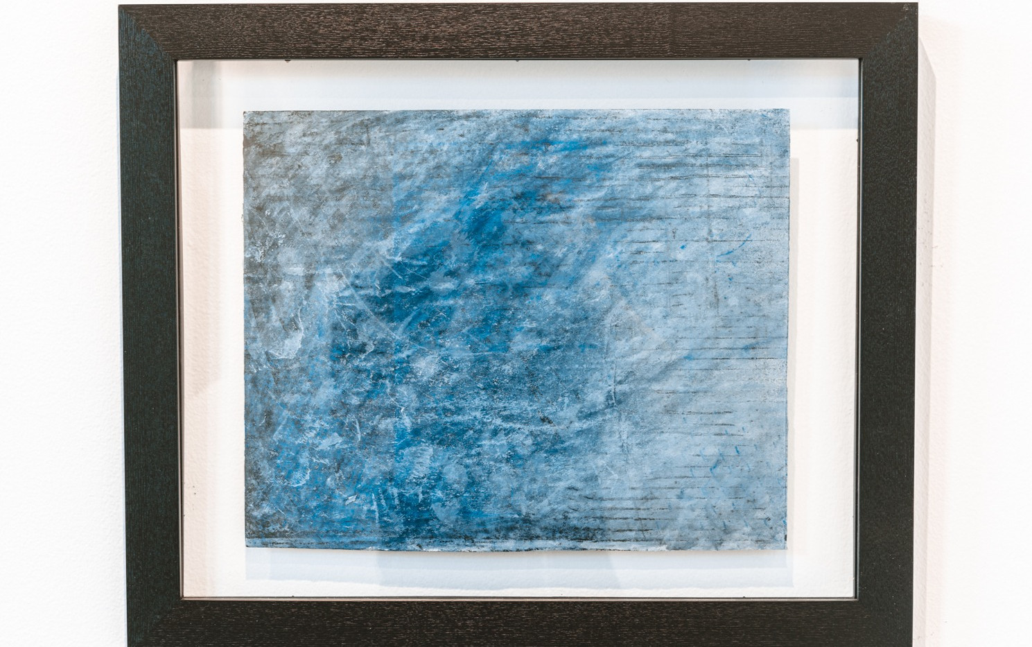 "IRA TATTELMAN  ""Vardar River Drift 2019"" Monoprint on Fabriano Tiepolo paper 18.75"" x 22.75"" framed 2019 $425  Photograph by StereoVision"