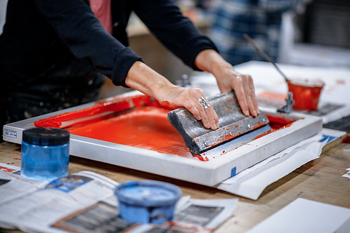 One-to-One Screenprinting Lesson (3 hours)