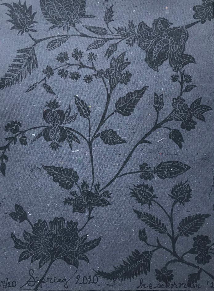 K.E. Sekararum  Spring 2020 Linoleum relief
