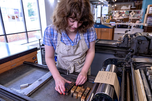 One-to-One Letterpress Lesson (3 hours)