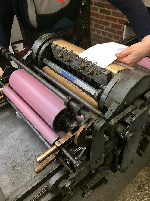 Introduction to Letterpress on the Vandercook Press; Dec 5; 10am-4pm