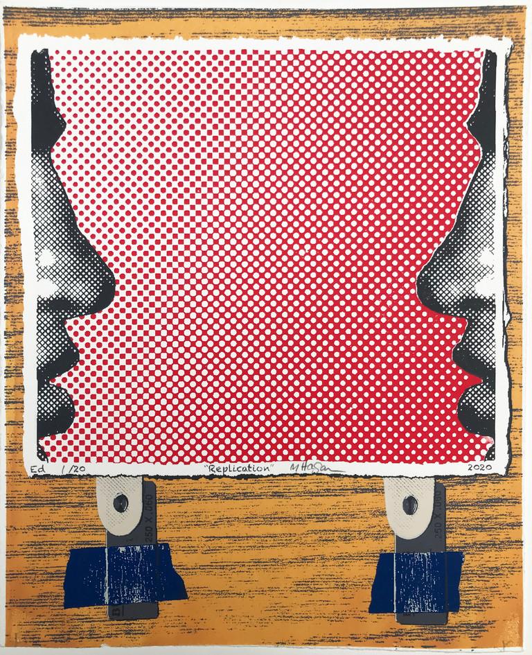 "Mike Hagan  ""Replication"" Screenprint"