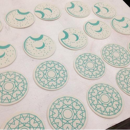 Screenprinted Coasters; Jul 15; 7-9pm