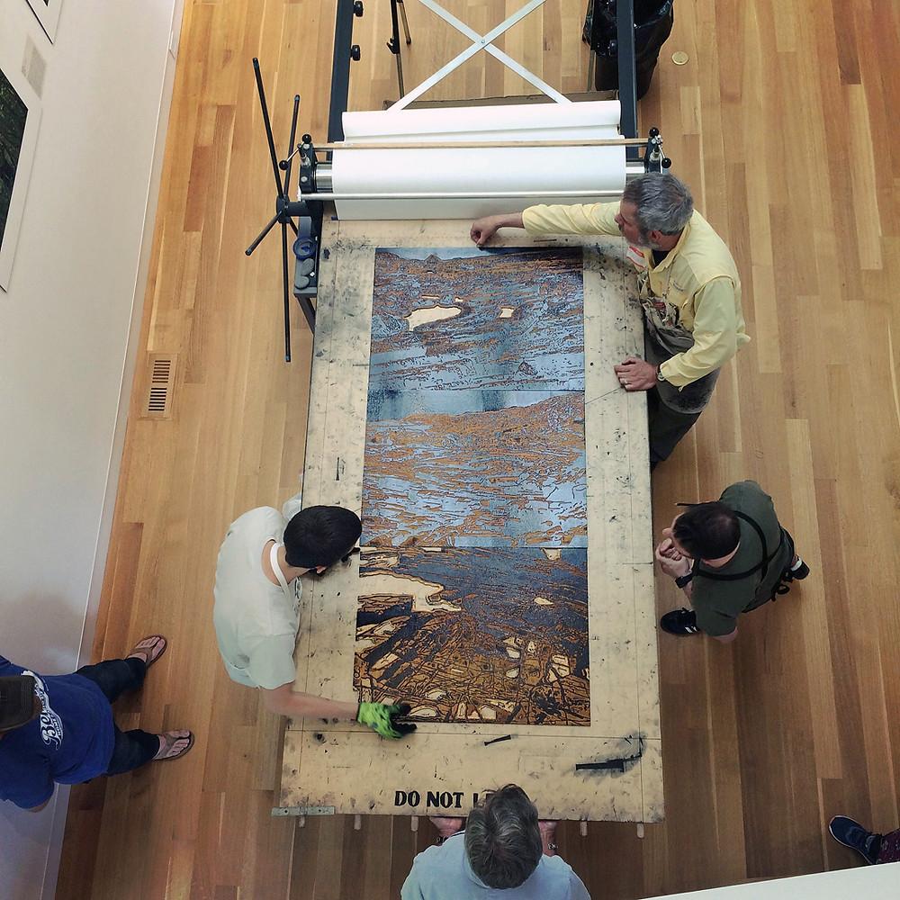 Printing work by Jane Goldman at Dedee Shattuck Gallery.