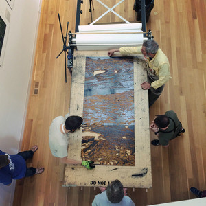 BIG INK is returning to Pyramid for the second annual weekend of giant woodblock printing!