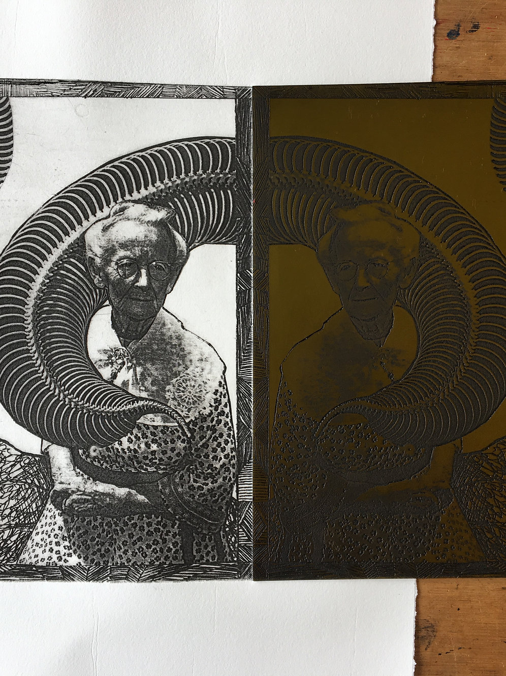Solar Plate Etching