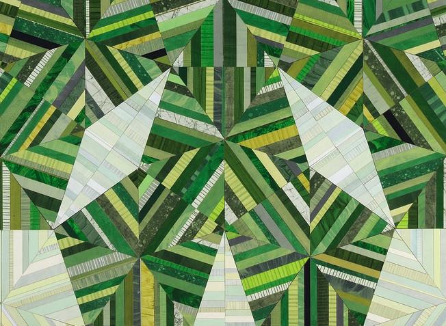 """Ellen Hill """"Big Green Flower"""" (detail)"""