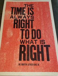"""""""The Time is Always Right …"""" by Hadiya Williams"""