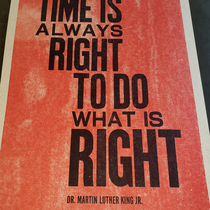 The Time is Always Right …