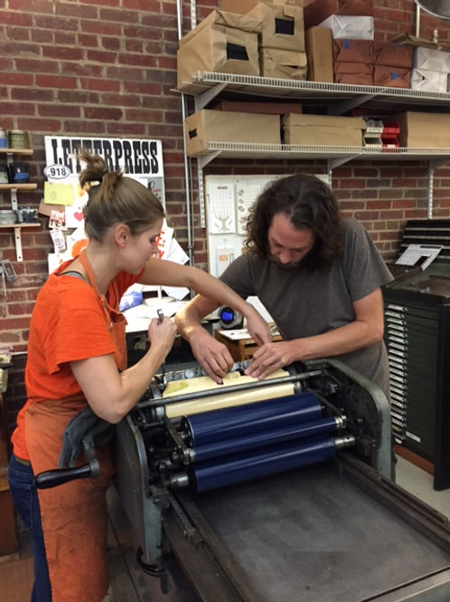 Two-to-One Letterpress Workshop (3 hours)