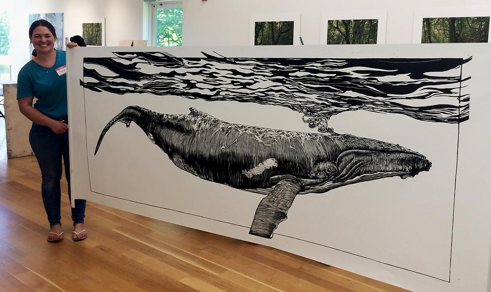 Print by Janie Kinnane at Dedee Shattuck Gallery.