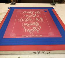 Screen ready to print John Ortiz's design